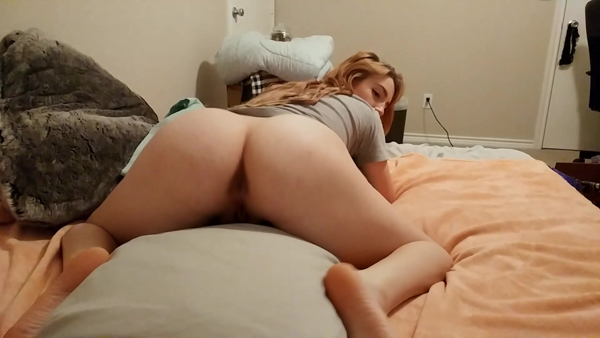 Sexy Pillow Humping Orgasm
